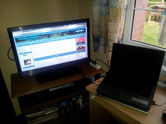 Habe meinen Fernseher über HDMI am Laptop angeschlossen....
