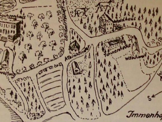 Immenhof-Plan aus den 50er Jahren