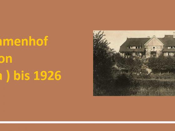 Der Immenhof von der Gründung bis 1926