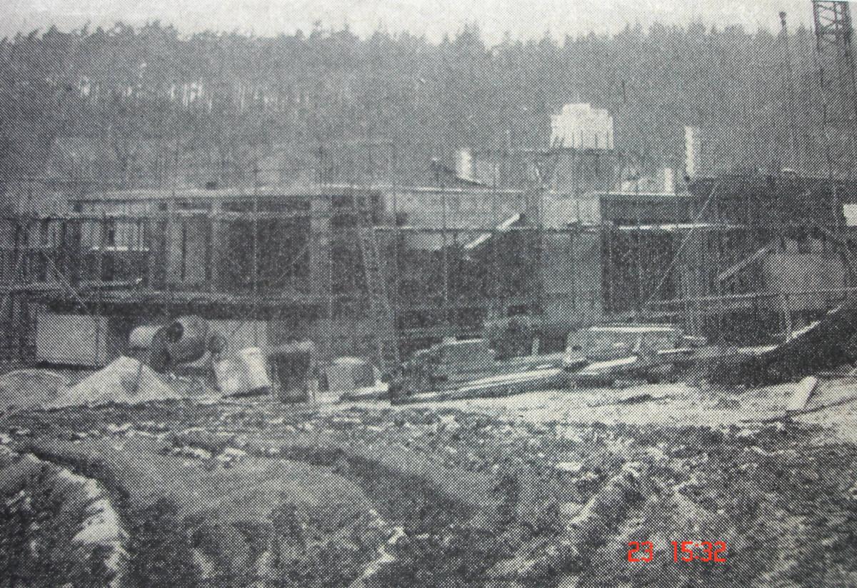 Brunnenhaus - 1972 - Baustelle