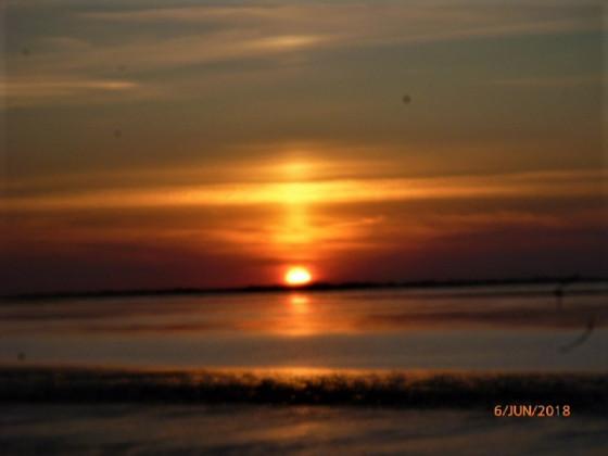 Sonnenuntergang an der Nordsee.